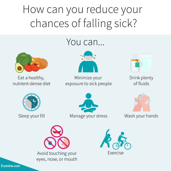 How can you reduce your chances of falling sick?