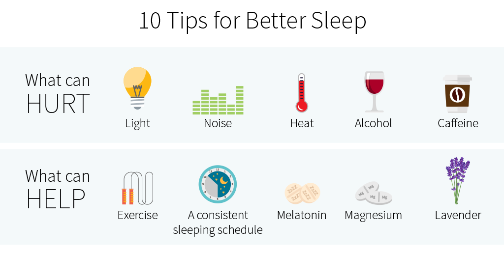 10 tips for better sleep quality