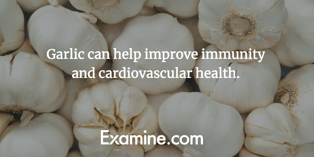 Garlic can help improve immunity and cardiovascular health