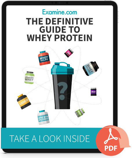 iPad version of Definitive Guide to Whey Protein